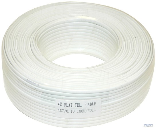 TM-KL 4C 4 erű lapos fehér 100 m